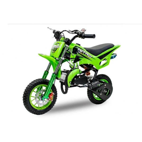 Nitro DS67, KXD 504,das Mini Crossbike DS mit 8Zoll Aluminiumrädern und 49ccm