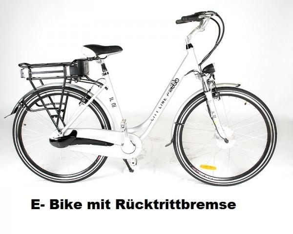 E-BIKE Elektro Alu Fahrrad mit Rücktrittbremse 250 Watt