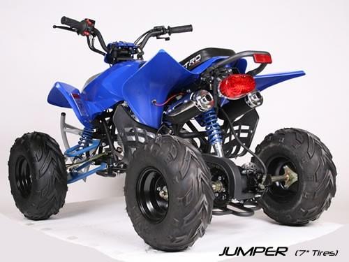 Quad 125cc JUMPER RS hydraulische Bremsen-7 Zoll Räder, Elektro-Starter